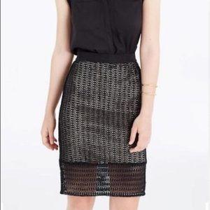 Ann Taylor Petite Diamond Lace Skirt